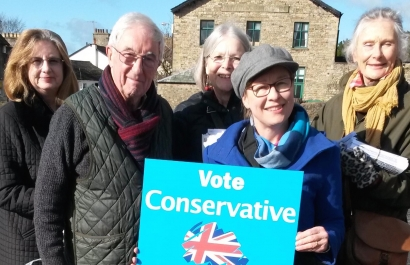 Some of the team in sunny Sedbergh this weekend supporting our excellent cand