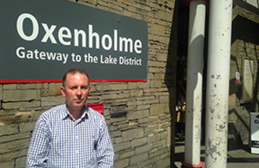 Councillor James Airey at Oxenholme Station