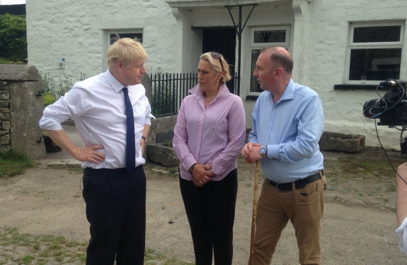 Boris Johnson, Caroline Airey and James Airey