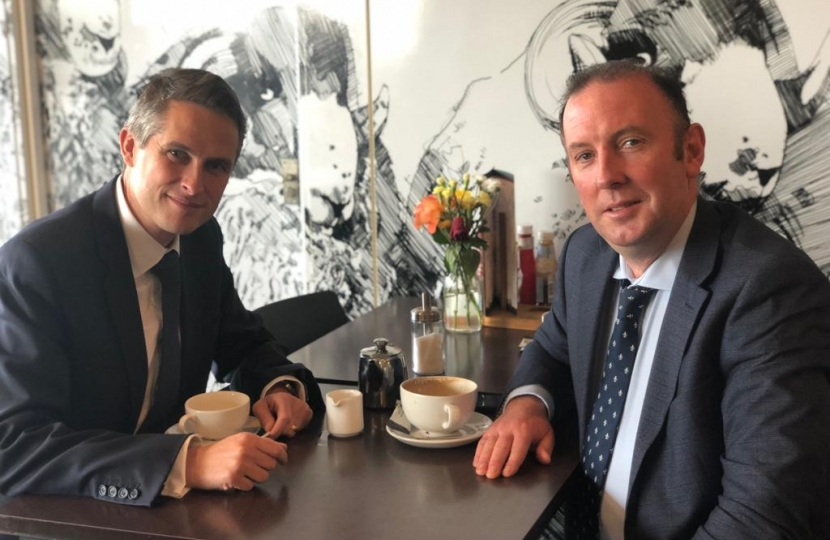 Gavin Williamson and James Airery