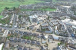 Kendal floods after Storm Desmond. Image courtesy Hovershotz